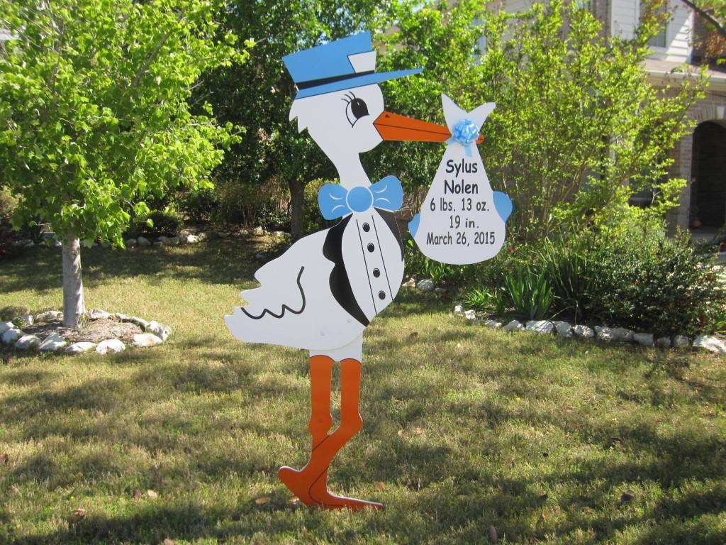 Potomac, MD Stork Sign Rental ~Flying Storks ~301-606-3091
