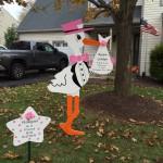 Stork Sign Damascus, MD Flying Storks (301) 606-3091