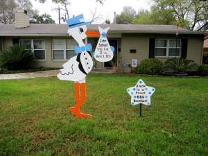Stork Sign Maryland Yard Card Flying Storks (301) 606-3091