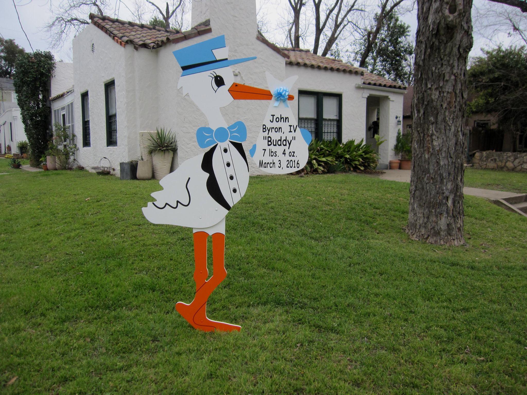 Yard Card Stork Sign Bethesda, MD