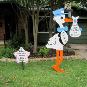 Maryland Stork Signs Lawn Sign Birth Announcements Germantown/Gaithersburg