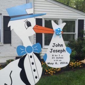 Bethesda Chevy Chase Stork Sign<br/> Bethesda Stork Signs~Stork Yard Cards<br/> Flying Storks<br/> (301) 606-3091