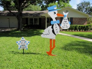 Maryland Stork Signs Flying Storks Yard Signs Frederick, Md (301) 606-3091