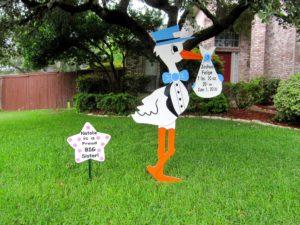 Md Stork Sign Yard Card<br/> Md. Stork Lawn Signs<br/> Clarksburg, Md<br/> Flying Storks<br/> (301) 606-3091