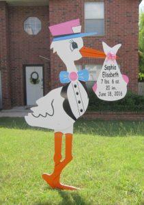 Stork Signs Md<br/> Md Yard Stork Signs<br/> Flying Storks<br/> (301) 606-3091