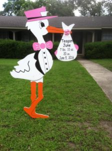 Md. Stork Sign Yard Card Birth Announcements<br/> Frederick, Md<br/> Flying Storks<br/> (301) 606-3091