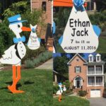 Bethesda, Maryland Stork Sign Yard Card Flying Storks This Card won't fit in an Envelope (301) 606-3091