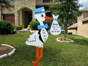 Maryland Stork Signs~ Stork Lawn Sign in Maryland~Flying Storks (301) 606-3091