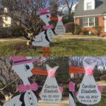 Maryland Stork Sign~Flying Storks~Kensington/Silver Spring~(301) 606-3091