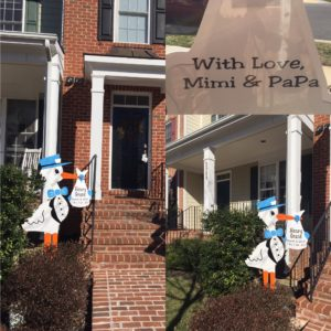 Stork Yard Signs in Urbana Maryland Flying Storks (301) 606-3091