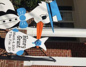 Maryland Flying Stork Sign Yard Card Urbana, Md Stork Sign Flying Storks (301) 606-3091