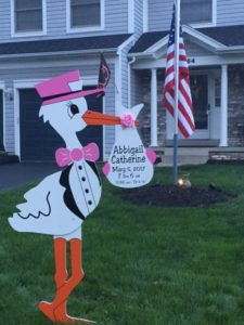 MD Baby Yard Stork Sign Flying Storks (301) 606-3091 Jefferson, MD