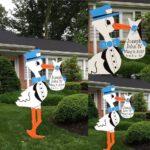 Maryland Stork Yard Signs Flying Storks Potomac, Md (301) 606-3091