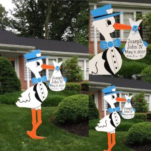 Maryland Stork Yard Signs Flying Storks Potomac, Md (301) 606-3091