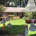 Flying Stork Yard Stork Sign Rental