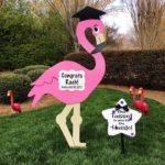 Md flamingo granduate Yard Sign