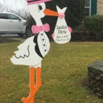 Rockville, MD Stork Sign Rental<br/> Flying Storks<br/> (301)606-3091