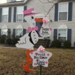 New Market MD Pink Stork Sign Rental<br/> Flying Storks<br/> (301) 606-3091