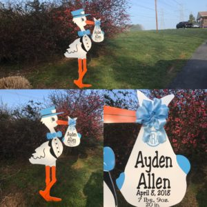 Yard Stork Sign Rentals~Flying Storks