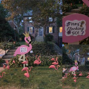 Birthday Yard Flamingo Flock