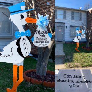 Silver Spring Stork Signs-Flying Storks-301-606-3091