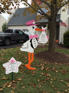 Stork Sign <br/> Damascus, MD<br/> Flying Storks<br/> (301) 606-3091