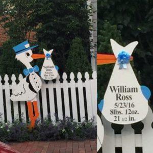 Md Yard Card Stork Sign Rentals Maryland Stork Signs Flying Storks (301) 606-3091