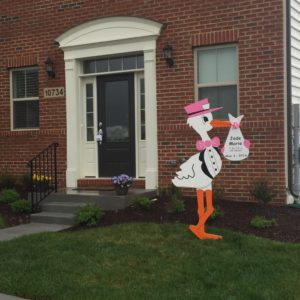 Clarksburg Stork Signs Maryland Stork Signs Flying Storks (301) 606-3091