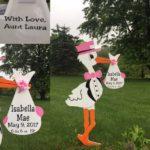 Taneytown, MD Pink Stork Baby Stork Sign Rental Flying Storks Md Stork Sign Yard Cards (301) 606-3091