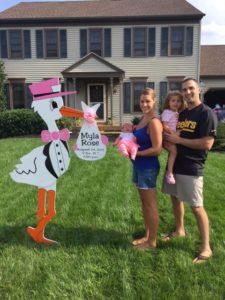 Urbana, MD 6' Stork Sign Flying Storks (301) 606-3091