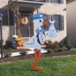 Silver Spring MD Stork Yard Card Rental Flying Storks (301) 606-3091