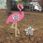 Birthday Yard Sign Rentals<br/> Flying Storks<br/>301-606-3091<br/> Poolesville, Maryland
