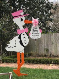 Brunswick Maryland Stork Signs Flying Storks 301-606-3091