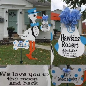Bethesda Stork Sign Rentals Flying Storks 301-606-3091