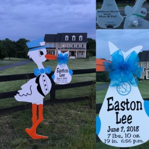 Purcellville, VA Yard Stork Sign Rentals