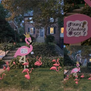 Birthday Yard Flamingo Flock