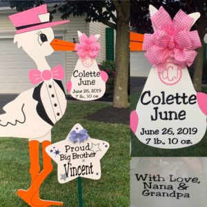 Frederick Maryland Yard Stork Sign Birth Announcement